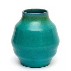 A green glazed ceramic vase, produced by the Vier