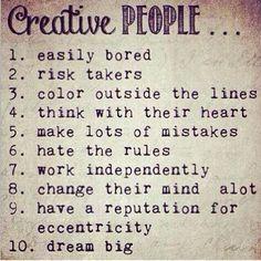 Descrição de pessoas criativas