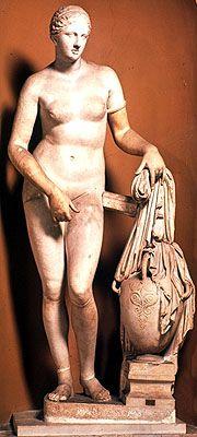 Afrodyta z Knidos - Praksyteles pierwsza naga kobieta