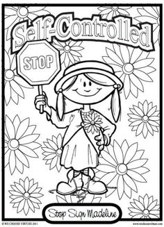 New fruit of the spirit self control craft coloring pages 60 Ideas Sunday School Lessons, Sunday School Crafts, Lessons For Kids, Colouring Pages, Printable Coloring Pages, Coloring Sheets, Bible Object Lessons, Decoupage, Bible Story Crafts