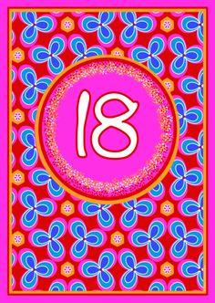 18 jaar! Vrolijk verjaardagskaartje