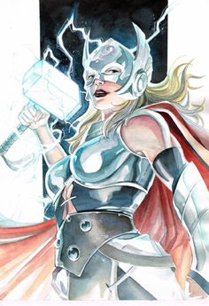 Jane Foster Thor by Garrie Gastonny Marvel Comics, Marvel E Dc, Marvel Comic Universe, Marvel Heroes, Asgard Marvel, Thor Valkyrie, Female Comic Characters, Book Characters, Female Thor