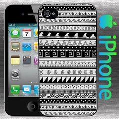 ab4ca164cd0 Aztec Black and White lines iPhone 5 / 5S case box skin cover #GizmoGear  Black