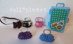 MY SCENE DOLL ACCESSORIES Luggage Suitcase & Purse Lot Barbie Delancey Chelsea  #Mattel #Accessories