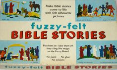 Vintage Fuzzy Felt Bible Stories felt pieces crafting re purpose 60s England by sweetalicelovesyou on Etsy