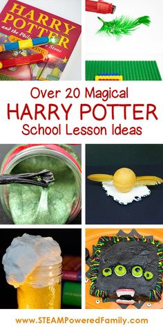 Over 20 Harry Potter school lesson ideas for your wizards, DIY and Crafts, Over 20 magical activities for a Harry Potter School inspired lesson. Fill your classroom with magic and watch your child& eyes LUMOS! Harry Potter Thema, Cumpleaños Harry Potter, Harry Potter Birthday, Harry Potter Classes, Harry Harry, Stem Activities, Activities For Kids, Harry Potter Activities, Harry Potter Party Games