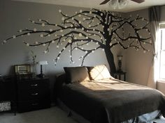 this would look great in our bedroom ! the lady loves the whole black on grey thanggg ; )