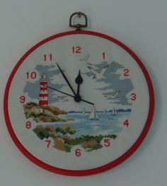 Clock - Vervaco design, Cross stitch technique