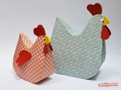 Papier Mache Hens - the gals that inspired the Hen Craft Challenge :) new design and tutorial