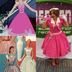 1950 Pink Cinderella is a mashup of Lana Lobell fashions, and the pink Cinderella gown.