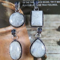 Wholesale Natural Rainbow Moonstone Gemstone 925 Silver Plated Pendant Jewelry #Unbranded #Pendant