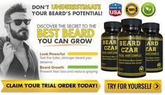 Beard Czar Facial Hair Complex will help you grow thicker and lustrous beard and eliminate beard whitening and itching. Try It on a Risk Free Trial Men's Health Supplements, Fibromyalgia Supplements, Bodybuilding Supplements, Protein Supplements, Natural Supplements, Nutritional Supplements, The Manliness, Pre Workout Supplement, Male Enhancement