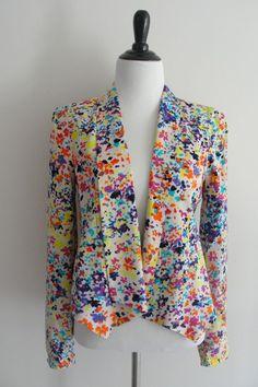 Jessica Simpson Blazer Open Front Dalton Chambray Womens Jacket ize XS EU #JessicaSimpson #BasicJacket #blazer #ootd