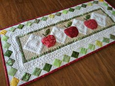 Sewing & Quilt Gallery: Apples for a Special Teacher