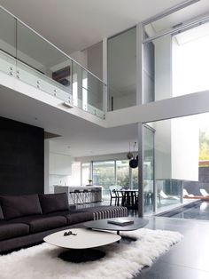 clear open plan space with luxurious touches
