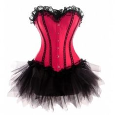 Best corset for body shape - Amazing Hot Pink Lace Ruffled Corset  TuTu Dress. Perfect to enhance the bust and give the illusion of height.