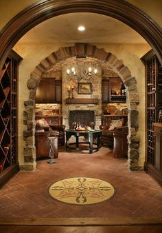 RoomReveal - Pub Inspired Basement_Wine Cellar by Carisa Mahnken