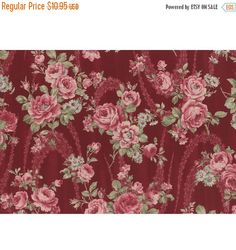 FANTASTIC SALE - Antique Rose 2016~Large Roses~ Cotton Fabric, Quilt, by Lecien,Fast Shipping, F705