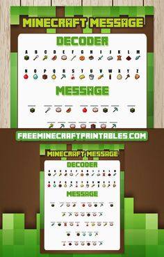 Free Minecraft Printables: Free Printable Minecraft Decoder Game