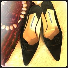 Selling this Manolo Blahnik Suede Mules on Poshmark! My username is: varnyp. #shopmycloset #poshmark #fashion #shopping #style #forsale #Manolo Blahnik #Shoes