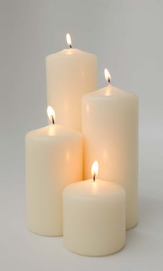 Buy 3x9 Unscented Ivory Pillar Candle at Candlemart.com for only $ 4.49