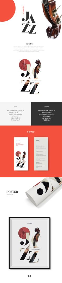 Capodanno in Jazz is an event planned for the New Year's Eve where food and jazz music were the main protagonists of the night. We were asked to design three corporate images: the artwork, the menu and a poster (70x100 cm). In full accordance with the moo…