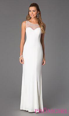 Floor Length Sleeveless Gown at PromGirl.com
