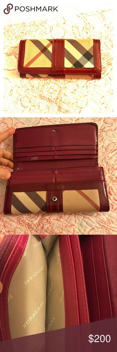 BURBERRY Nova Check wallet Authentic pre-loved wallet. See pictures for signs of wear but still has lots of life ready for a new owner.  Downsizing my closet. Not in a hurry to sell. Make me an offer Burberry Bags Wallets
