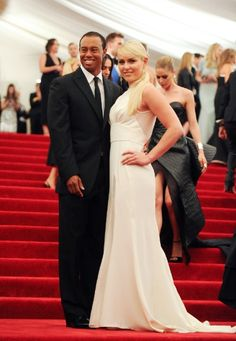 Tiger Woods and Lindsey Vonn #metgala  (Photo by Evan Agostini/Invision/AP)