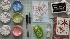 Watercolouring With Nuvo Embellishment Mousse :D