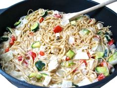 Easy, Skillet Chicken Tetrazzini Made Skinny with Weight Watchers Points | Skinny Kitchen