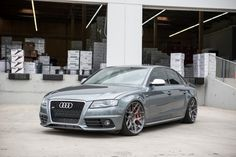 Vehicle: Audi B8 S4  Wheels: Avant Garde M590  Sizing: 20x10 square   Finish: Brushed Grigio