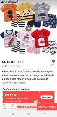 6M-5 A/ños 100/% algod/ón Baby Boys Pijamas Set Ropa de Dormir de Manga Larga