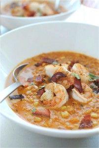 Smoky Corn Chowder with Shrimp