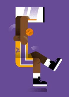 My new #illustration about #shaq and the golden age of #Lakers
