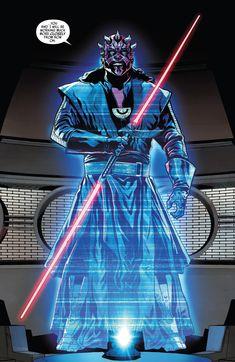 Star Wars Comics, Star Wars Art, Star Trek, Darth Maul Comic, Dark Maul, Comic Book Template, Arte Nerd, Fanart, Jedi Sith
