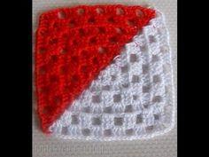 Cómo hacer una manta crochet con diseño patchwork / tutorial con videos | Crochet y Dos agujas                                                                                                                                                     Más
