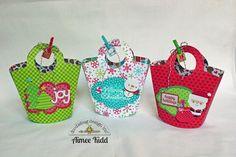 Doodlebug Design Inc Blog: Santa Express: DIY Mini Gift Bags by Aimee