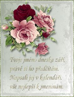 Přáníčko k svátku s říkankou | Tvoření Happy Birthday Quotes, Congratulations, Cards, Pictures, Gifts, Flowers, Photos, Happy Birthday Captions, Presents