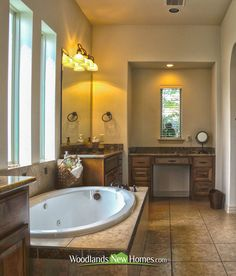 #master #bathroom with #bathtub and #tile floors.
