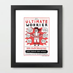 If I was a Wrestler (it's probably for the best that I'm not) Framed Art Print by gemma correll - $35.00
