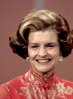 5 Risks First Lady Betty Ford Took For Women Us First Lady, First Daughter, First Lady Portraits, Betty Ford, American First Ladies, Face Art, Art Faces, Two Ladies, Famous Women