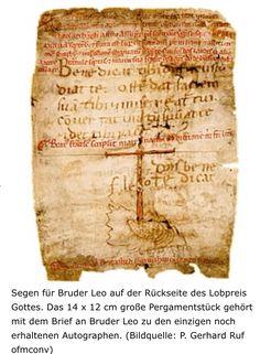 Hl.Franziskus von Assisi Saint Francis, Illuminated Manuscript, St Francis, Blessing, San Francisco