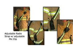 Firefighter Radio Strap Reflective Adjustable by SmilingPupDesigns, $44.99