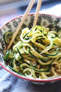 easy sesame zucchini noodles -  17 Easy Vegetable Sides That Are Actually Delicious