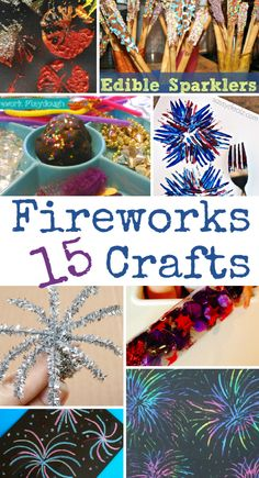 15 Fireworks Crafts for Bonfire Night, New Year's Eve or July - In The Playroom Awesome fireworks crafts - perfect for Bonfire night, these are creative, fun and easy! Bonfire Night Activities, Bonfire Night Crafts, Autumn Activities, Craft Activities, Bonfire Crafts For Kids, Bonfire Parties, Brownies Activities, Sparklers Fireworks, Xmas