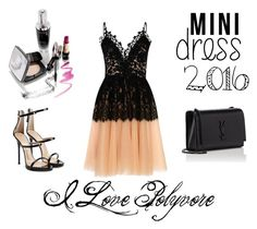 """""""dress"""" by aidabeganovic ❤ liked on Polyvore featuring True Decadence, Giuseppe Zanotti and Yves Saint Laurent"""