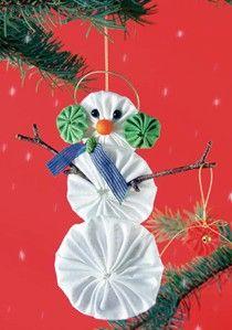 Yo-Yo Snowman Ornament