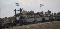IDF gathering near Gaza border, July 2014