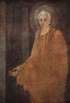 Buddha as mendicant, illustration from 'Myths of the Hindus and Buddhists' by Sister Nivedita and Ananda Coomaraswamy, 1st edition, 1913 (colour litho)